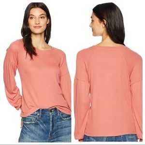 Sanctuary NWT Babydoll Thermal Waffle Top Pullover